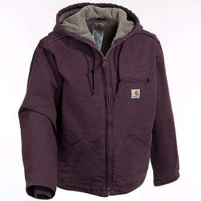 Women's Carhartt Sherpa Jacket in Deep Wine. Its inbetween being a dark purple dark burgandy. Finally got mine in and I LOVE it, warm yet you can move around in it!