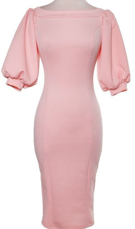 """""""Salina"""" Off the shoulder puffy sleeves dress."""