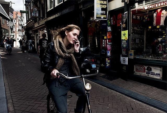 Fietsen, Amsterdam (final) by crepemolenchamp, via Flickr