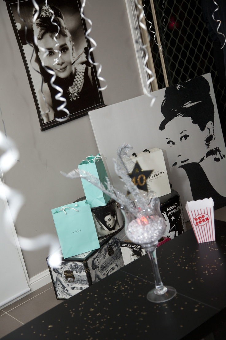A display of Audrey Hepburn goods, Breakfast at Tiffanys