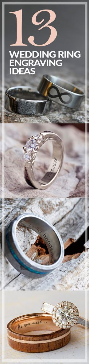 Make your jewelry all the more meaningful with a personalized wedding ring engraving. Check out our top 13 engraving ideas on our blog!