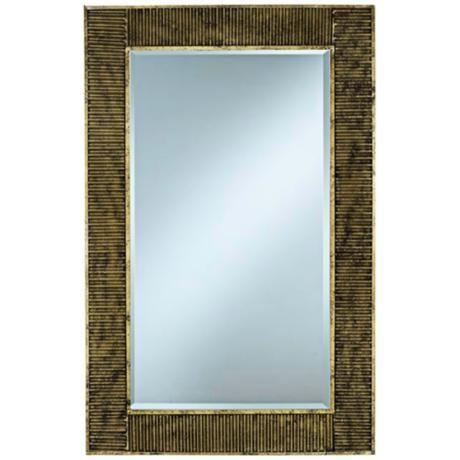 """Cooper Classics Peter Gold 22 3/4""""x35 1/2"""" Wall Mirror -"""