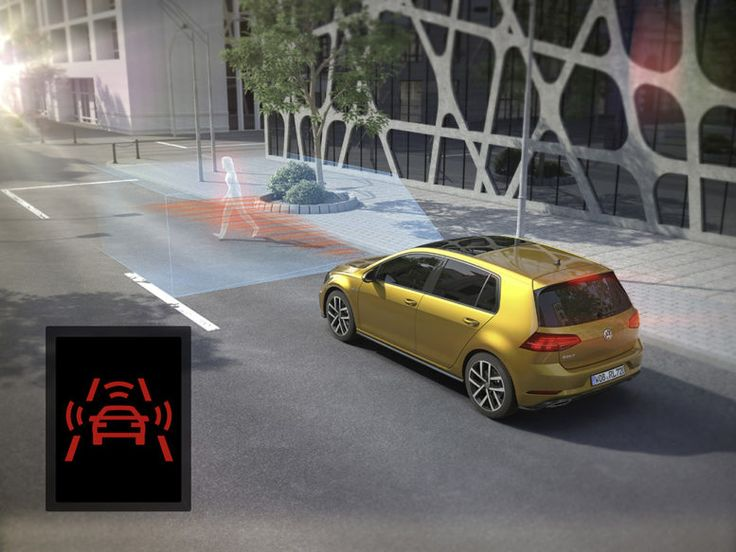 Volkswagen Golf pedestrian recognition