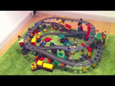 Duplo train, three levels