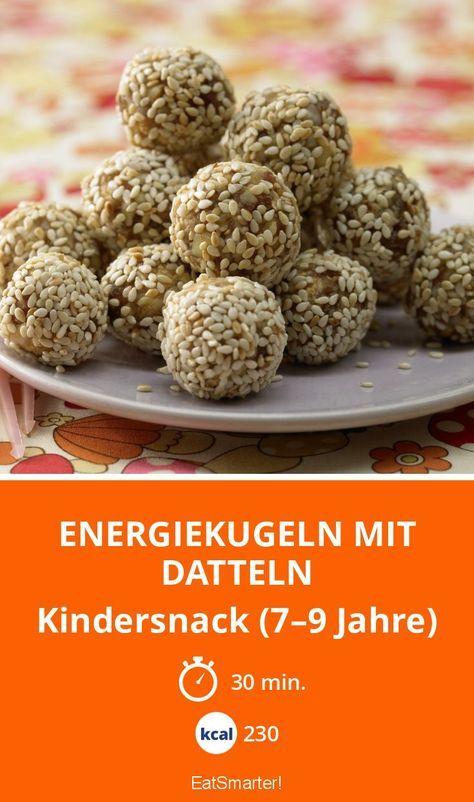 Energiekugeln mit Datteln | Kalorien: 230 Kcal - Zeit: 30 Min. | http://eatsmarter.de/rezepte/energiekugeln-datteln