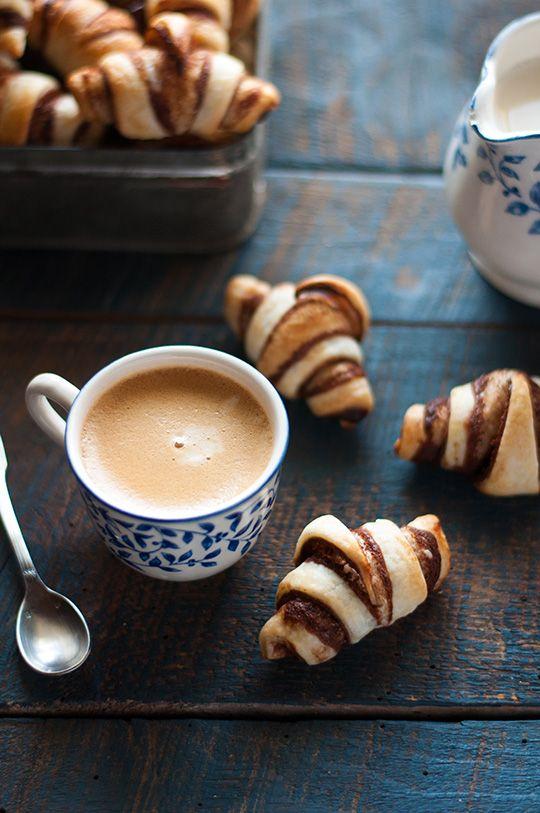 Mini #Croissants #végans à la #Chocolade #sanslait de #JeanHervé, #orange et #cannelle