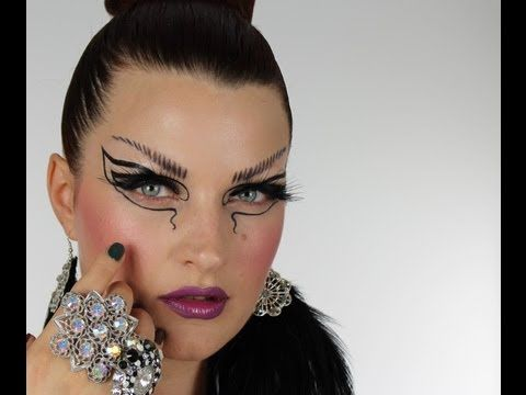 Very cool! Tutorial using Illamasqua Theater of the Nameless products. Could be a Halloween look!