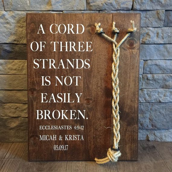 A Cord Of Three Strands Sign 3 Ecclesiastes 4