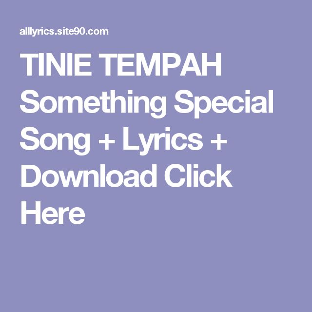 TINIE TEMPAH Something Special Song + Lyrics + Download  Click Here