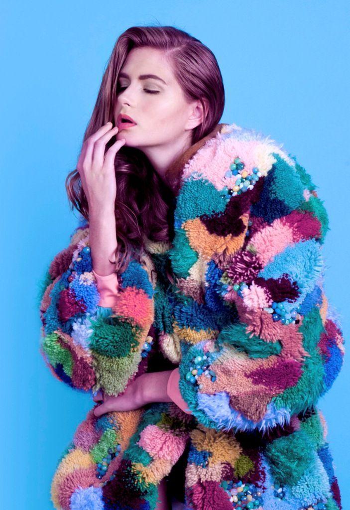 pom pom coat fashion week - Google Search