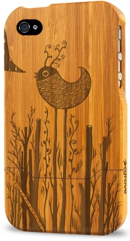 SO CUTE! wooden iPhone cover