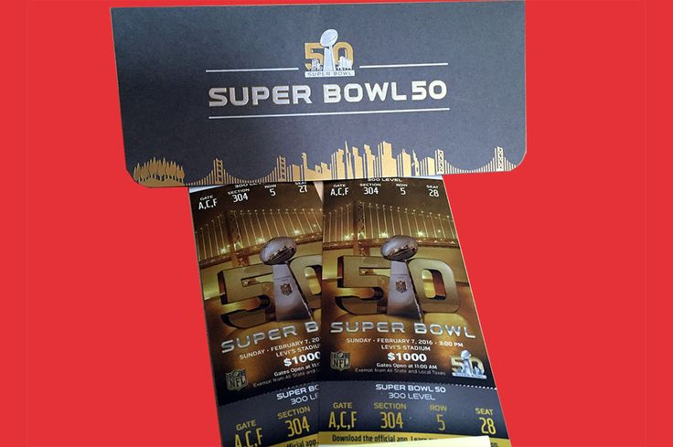 Two Tickets to Super Bowl 50; Sec 304 Row 5; Broncos vs Panthers; Benefits (RED) Time left: 1 day 19 hours