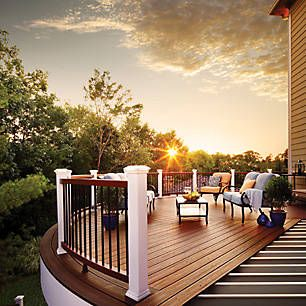 29 best hnh deck railings images on pinterest deck for Compare composite decking brands