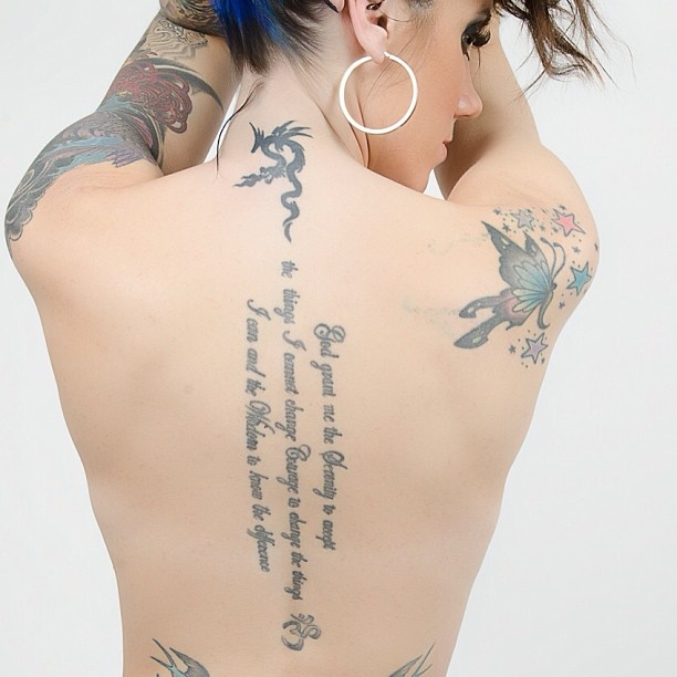 25+ Best Ideas About Vertical Back Tattoo On Pinterest