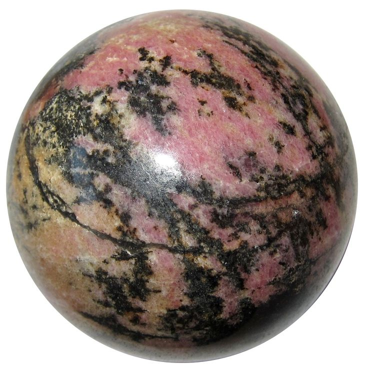 SatinCrystals Rhodonite Ball 72 Busy Bee Yellow Honey Pink Black Back to Nature Stone Healing Sphere 2.6 Satin Crystals rhodoniteball72