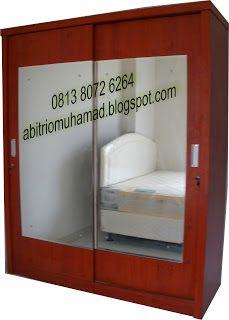 furniture minimalis: lemari 160x200x55 cermin besar