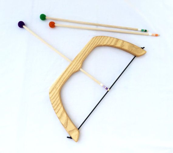 Large Wooden Bow and Arrows Set by FromJennifer on Etsy