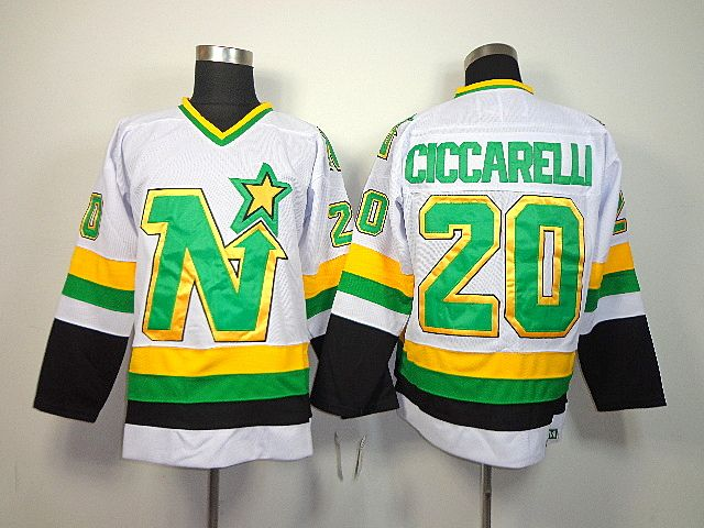 24898d979 ... green home breakaway nhl jersey d68b2 02be3  coupon code for dallas  stars 20 dino ciccarelli white jersey dallas stars 20 dino ciccarelli white