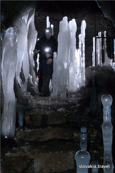 Stanišovská cave in winter, Slovakia