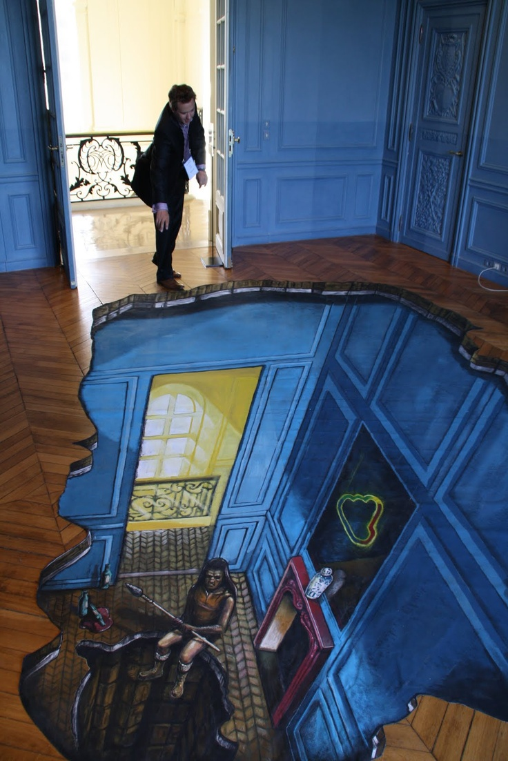 Floor painting 3d pavement art pinterest i will have for Floor 3d painting