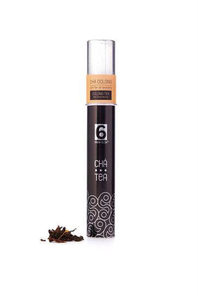 Chá Oolong aromatizado com pétalas de flor de laranjeira  Ingredientes: Chá oolong e flor de laranjeira. Peso: 20g