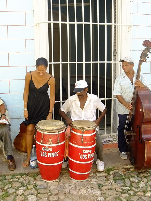 Gettin' down with the locals in Cuba #music #musicians #caribbean #cuba #trinidad #conga #instruments #bass #latin http://www.traveldesignery.com/2011/05/rhythm-is-gonna-get-you.html