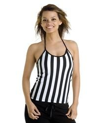 Ladies Halter #Ref #Shirt 92/8 Microfiber Poly Spandex -Halter Referee Shirt with Built In Shelf Bra. Juniors Cut. The Perfect Garment to Add Game for Sports Bars, Restaurants, #SportingGoods Stores, #Uniforms #Schools #Events or Just to be Fashionable! Pricing Shown Is For Blank Product. Turnkey Decorating Available with Rhinestones, Embroidery Appliques and Heat Transfers. #REFEREE #PromotionalProducts