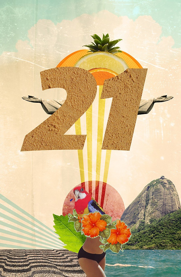 Rio de Janeiro Collages for outdoors / advertising Proposal art-work done about EMBRATEL 21, brazilian communications services. Each piece is an illustration representative of one city. In these examples: Rio de Janeiro and São Paulo. Final media plataforms: print and outdoor media. Agency: TALENT
