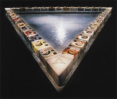 "Judy Chicago ----------------------------  I saw this as a teenager, and my sculpture instructor was making disparaging comments as we toured the perimeter...and I was thinking, ""You can do this? ...you can do this?"" --------- nah, mama, you can do this. Thank you, Judy."