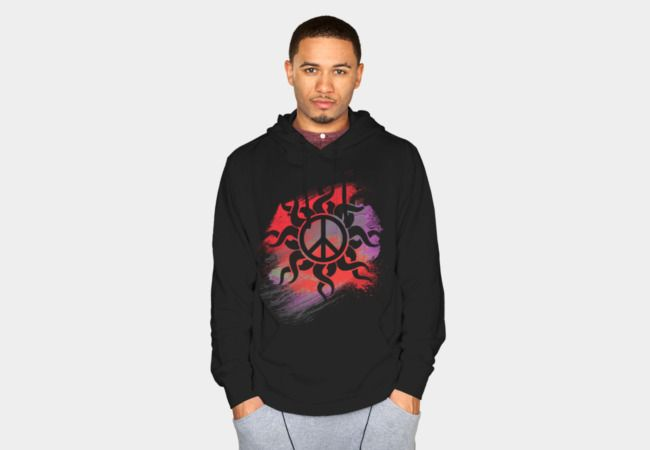 Cool Peace Sign with Paint Sweatshirt - Design By Humans