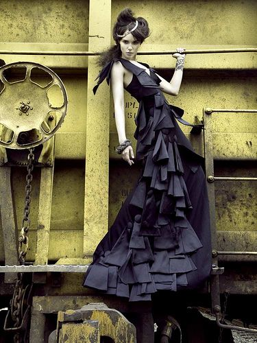 High-fashion Industrial Shoot by Rachael Christine, via Flickr