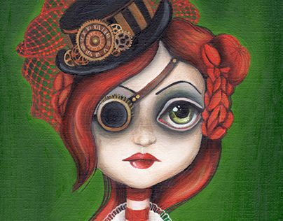 """Check out new work on my @Behance portfolio: """"Steampunk girl"""" http://on.be.net/1EOTaiB"""