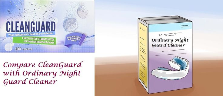 how to clean night guard