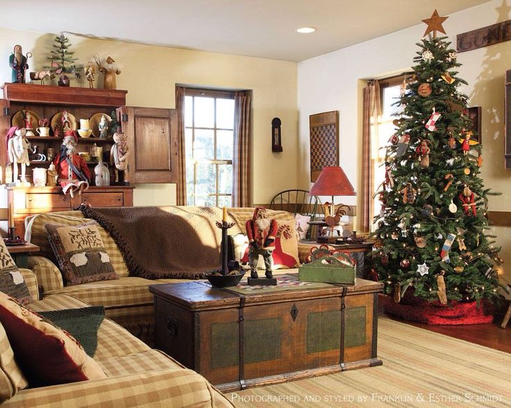 Country Sampler Christmas Decorating Ideas : Pin by valerie newman on primitive ??`? ??