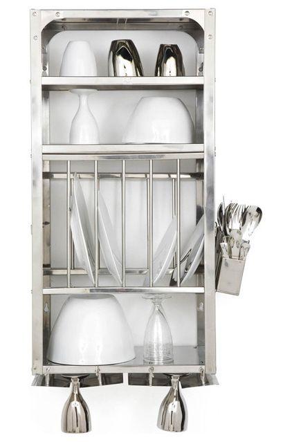 Small, industrial dish rack by Tsé & Tsé