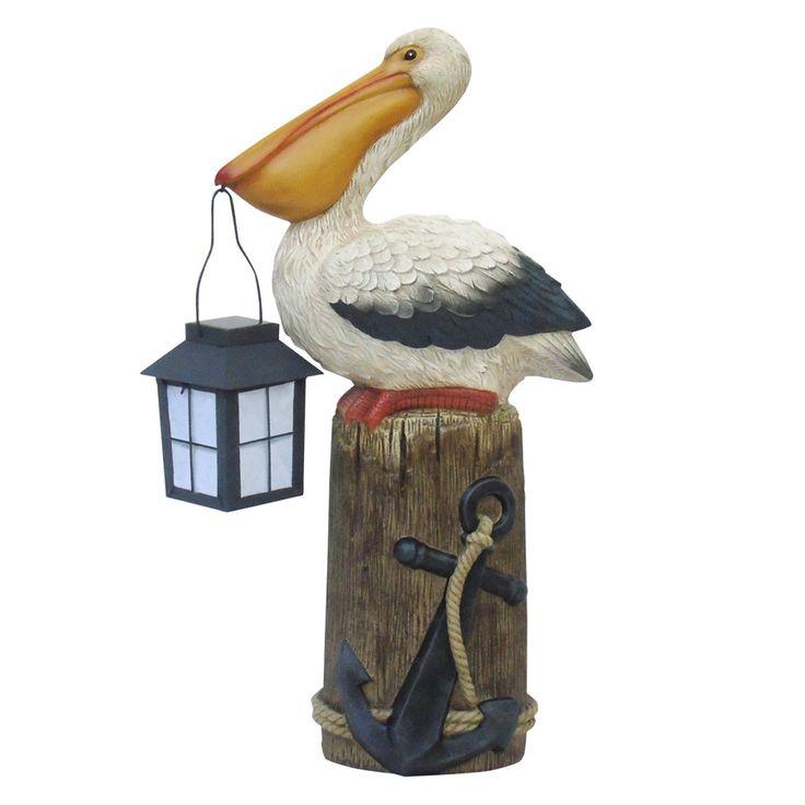 $40-lowes-Garden Treasures 21.25-in Pelican Garden Statue ...
