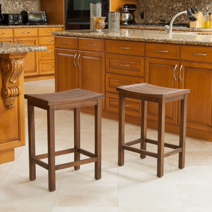 These slat counter stools from Christopher Knight are the perfect accent for a traditional kitchen. Wood Bar ... & 104 best Stools images on Pinterest | Kitchen stools Kitchen and ... islam-shia.org