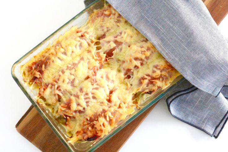 ZELF MAKEN: Witlofschotel met ham en kaas