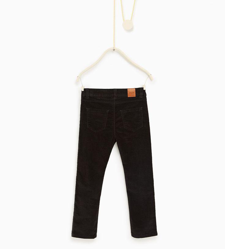 ZARA - KIDS - Moleskin trousers with zips