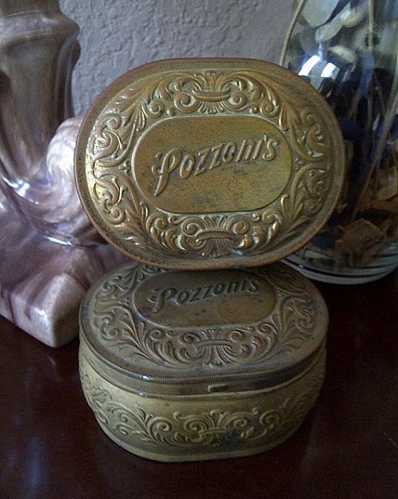 Vintage Luxor Encharma Powder Tin Cosmetic Compact