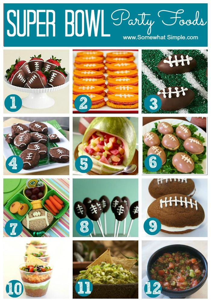 Cute and clever superbowl party food ideas from Somewhat Simple! Super Bowl
