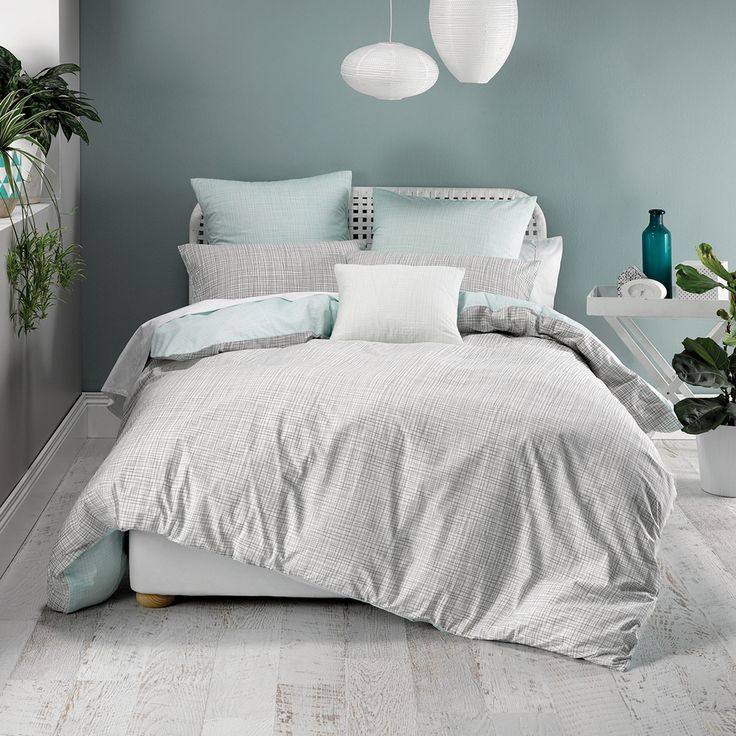 Meiko Mint Quilt Cover Set | Pillow Talk