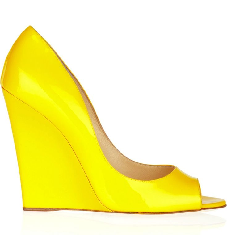 yellow jimmy choo wedge