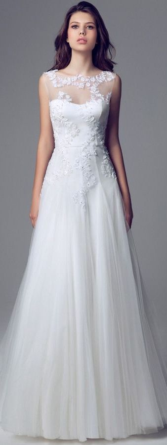 Blumarine Sposa - 2013/2014 - Sleeveless Illusion Neckline Wedding Dress