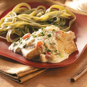 For the fresh Grouper that I can't wait to get my hands on: Grouper with Crabmeat Sauce