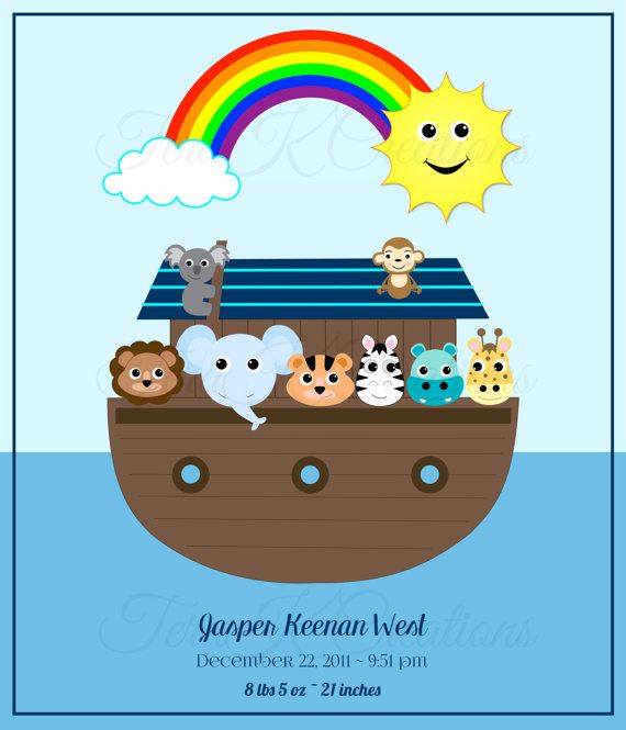 Personalized Baby Blanket or Kid Blanket, Boy or Girl Customized Newborn Noah's Ark by TeraKCreations on Etsy, Gifts for Kids, Gifts for Baby, Custom Blanket