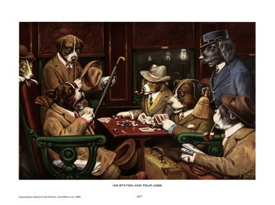 Dogs playing poker--classic.