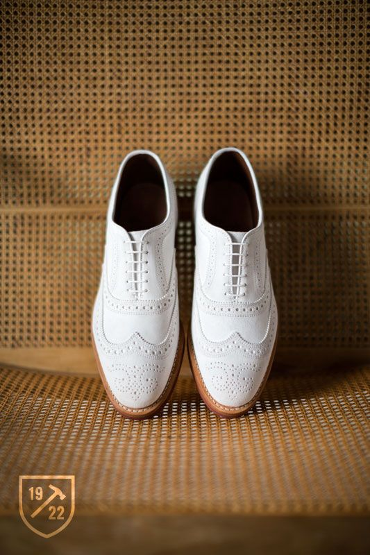 Spiaggia in White Nubuck - Wingtip Lace-up Oxford Men's Casual Shoes by Allen Edmonds, $260 #allenedmonds