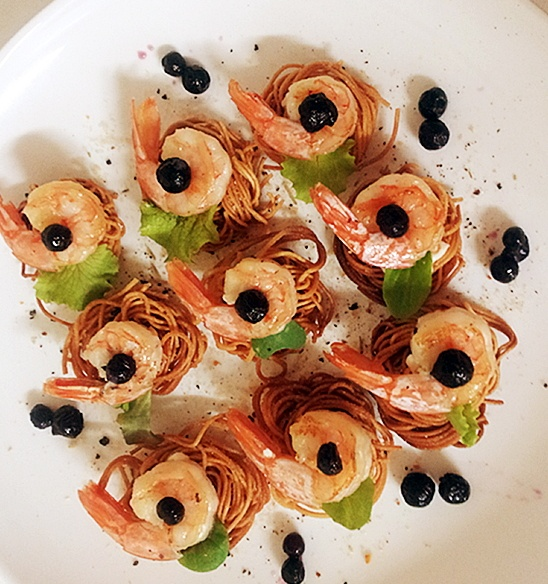 핑거푸드 - 새우 국수튀김