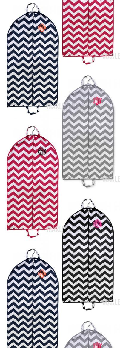Monogrammed Chevron Garment Bag from Marleylilly.com